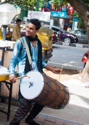 The Man with the dhol