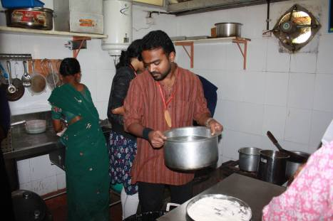 Volunteers in the kitchen