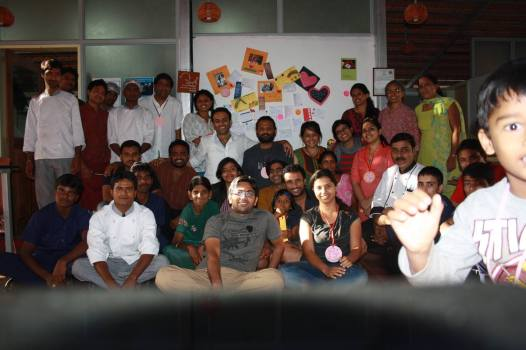 The Group of Volunteers and the Staff at the first Seva Café of Bangalore