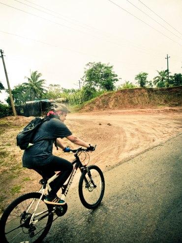 Enjoying the uphill ride