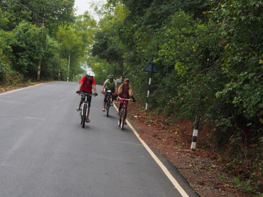 Cycling through the beautiful route